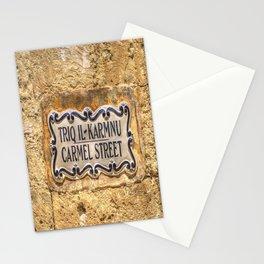 Street Sign Mdina Malta Stationery Cards