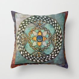 Mindful Passage Celtic Knot Throw Pillow