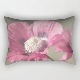 Poppies at Nature Rectangular Pillow