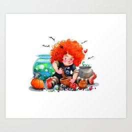 little red witch Art Print