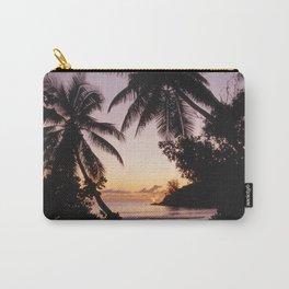 Palm sunset, Praslin, Seychelles Carry-All Pouch