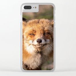 The laughing Fox Clear iPhone Case