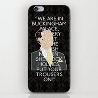 scandal iPhone & iPod Skins featuring A Scandal in Belgravia - Mycroft Holmes by MacGuffin Designs