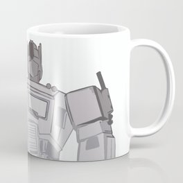 Optimus Black and White Coffee Mug