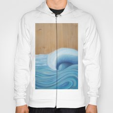 Wooden Wave Scape Hoody