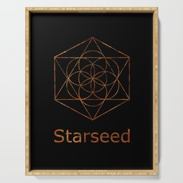Seed of Life Starseed Symbol Serving Tray