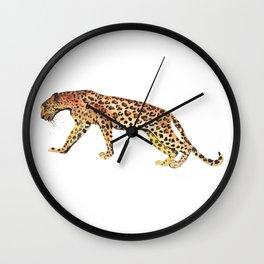 Watercolor leopard Wall Clock
