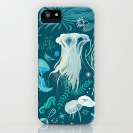 Aqua pattern iPhone Case