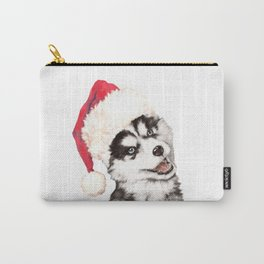 Christmas Baby Husky Carry-All Pouch