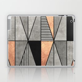 Concrete and Copper Triangles Laptop & iPad Skin