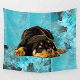 Rottweiler  - Metzgerhund Puppy Wall Tapestry