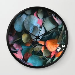 Rainbow Candy-Colored Flower Petals Wall Clock