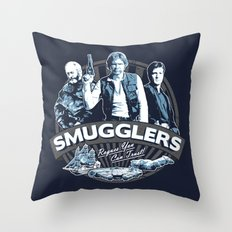 Smugglers Three Throw Pillow