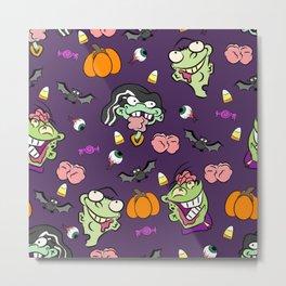 Zombie Ed Boy Pattern Metal Print