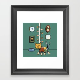 Mechanic cat1 Framed Art Print