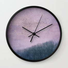 over the Heart of the Forest Wall Clock
