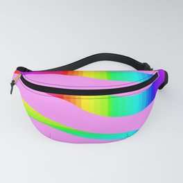 Pink rainbow stripes Fanny Pack