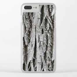 Rustic Tree Bark Clear iPhone Case