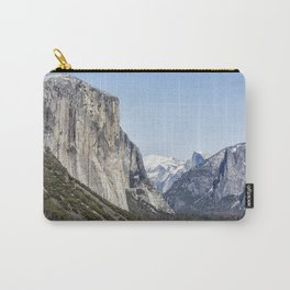 El Capitan, Half Dome and Sentinel Rock from Tunnel View Carry-All Pouch