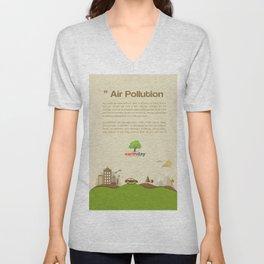 Air Pollution  Unisex V-Neck