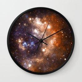 Galaxy Nebula Blue Copper Wall Clock