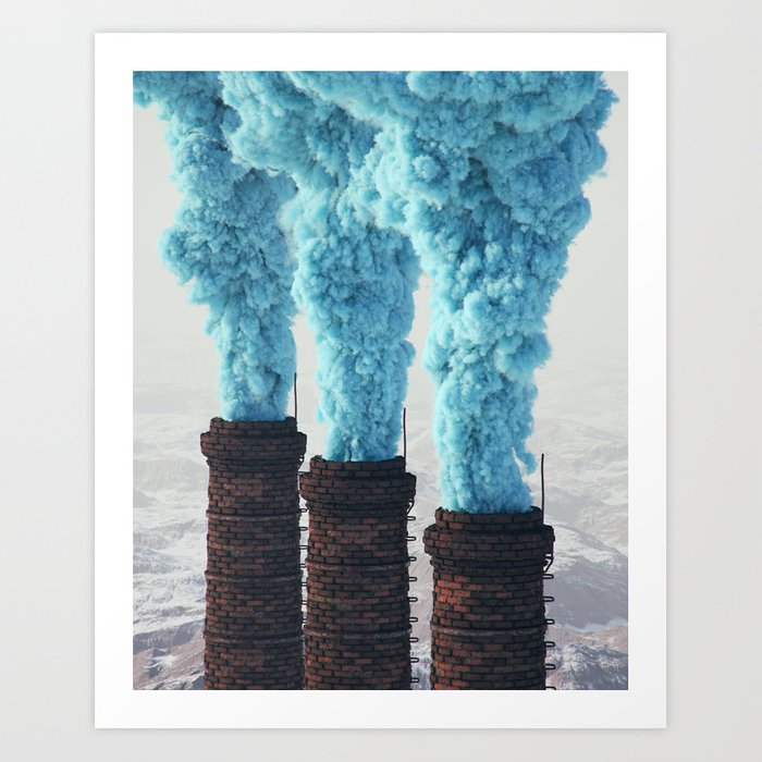 Blue Pollution Art Print By Filiphodas Society6
