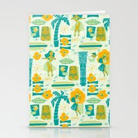 mid century Stationery Cards featuring Mid-Century Tiki by Aimee Steinberger