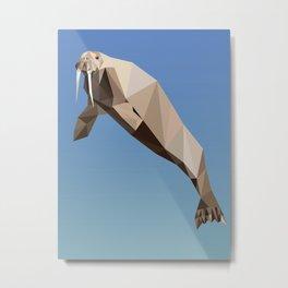 Geometric Walrus Metal Print