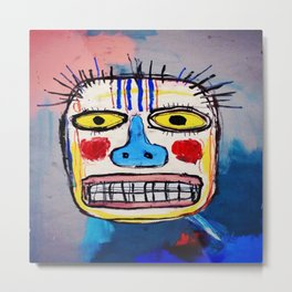 Basquiat Face Metal Print