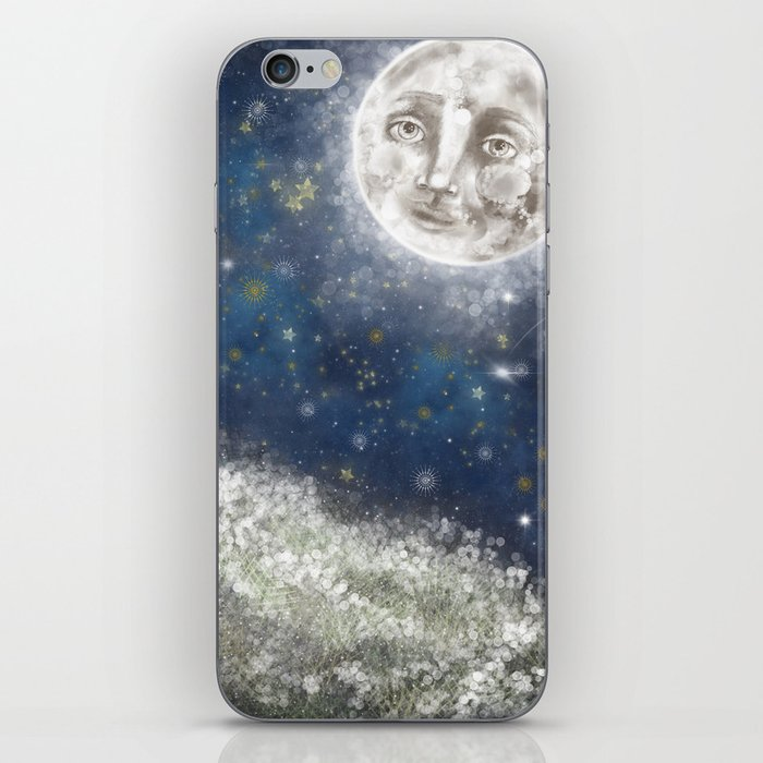 Bright Starry Night iPhone Skin