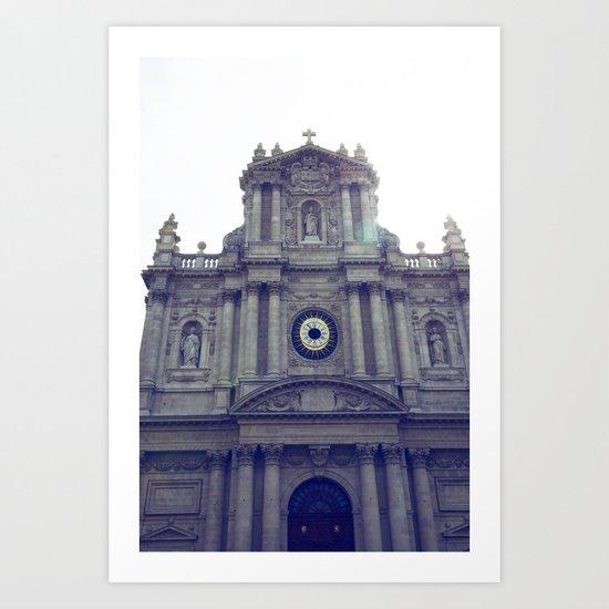 Eglise Saint Paul, Le Marais, Paris Art Print