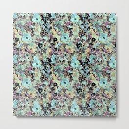 Bloom Floral Camouflage Metal Print