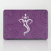 hindu iPad Cases featuring Purple Ganesha - Hindu Elephant Deity by Enduring Moments