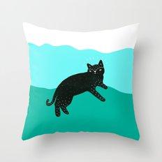 Cat Life 4 Throw Pillow