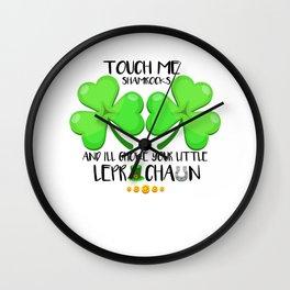 St Patricks Day Party Shirt Shamrock Beer Gift Idea Light Wall Clock