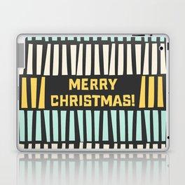 Mid-Century Modern illustrated Christmas Pattern Laptop & iPad Skin