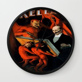 Vintage poster - Kellar the Magician Wall Clock