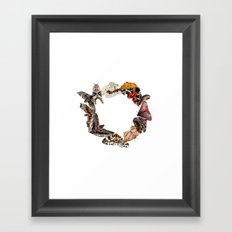 Moth Wreath Framed Art Print