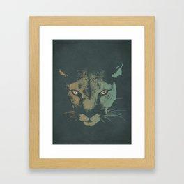 Mountain Lion Night Framed Art Print