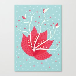 Exotic Winter Flower Canvas Print