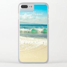 Hawaii Graphic Tropical Beach Decor Clear iPhone Case