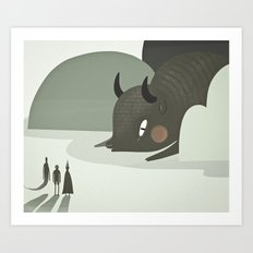 so they went to where the buffalos roamed. Art Print