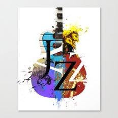 Jazz Guitar Canvas Print