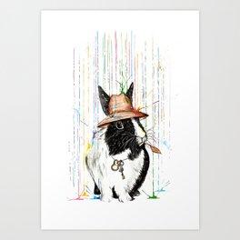 Oh Bunny Art Print
