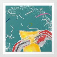 fishing Art Prints featuring FISHING by  ECOLARTE