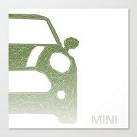 mini Canvas Prints featuring MINI by ARCHIGRAF