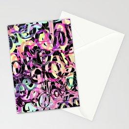 Love Black Multicolore Stationery Cards