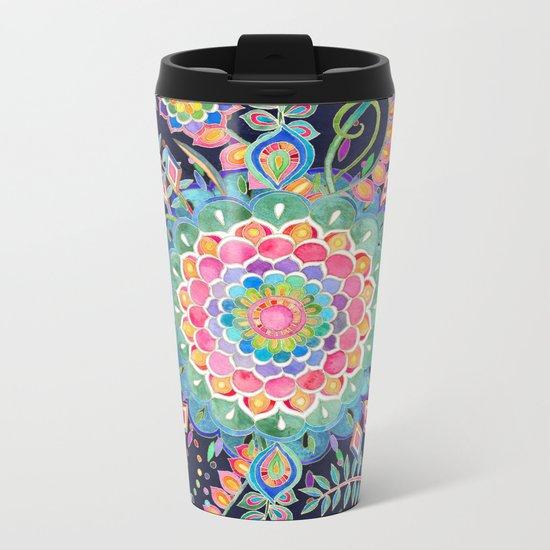 Color Celebration Mandala Metal Travel Mug