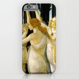 "Sandro Botticelli ""Spring"" The Three Graces (2) iPhone Case"