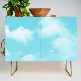 Aqua Blue Clouds Credenza